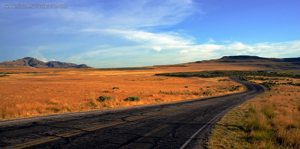 Image #5 Purchase http://goo.gl/muXwK  Best size 20x60 or 10x20  A winding twisting road located on antelope Island in Utah