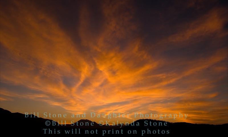 sunset over eastern sierra-mammoth lakes area