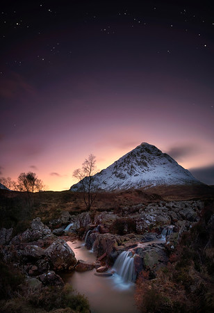 Glencoe - Sunset falls