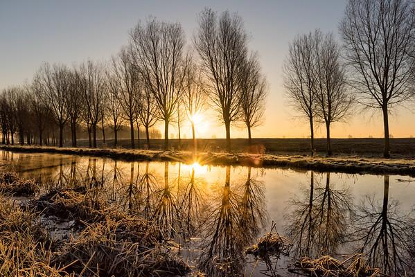 Weather UK: Frost in Cambridgeshire Fens