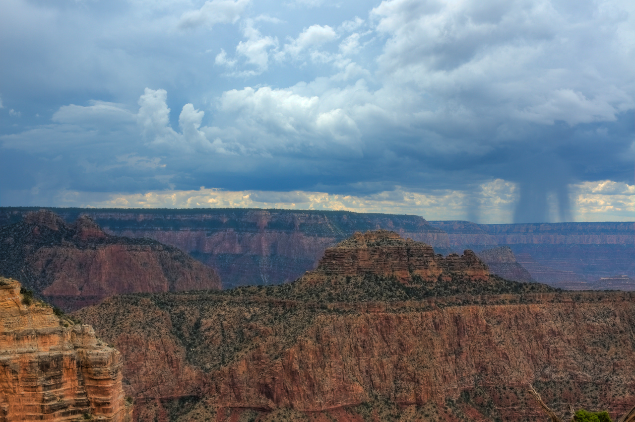 Distant Rain Storm, South Rim, Grand Canyon