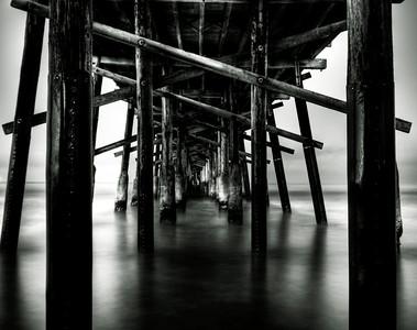 Newport Beach Pier B&W