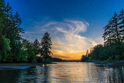 Sunset Pacific Northwest near Gig Harbor, Washington