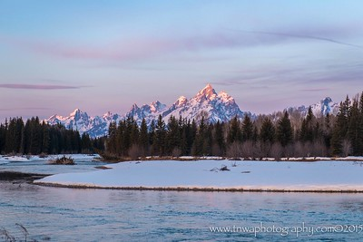 Kissed by the First Light Grand Teton National Park Wyoming © 2015
