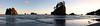 Sea Stack panorama, LaPush, Washington