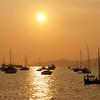Anchoring at sunset