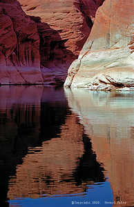 """Canyon Reflections"", Lower Antelope Canyon, Lake Powell, Page, Az., Sept. '01"