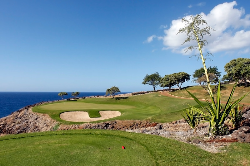 Challenge at Manele Golf Course - 12th Hole - Tee View - Lana'i, Hawaii