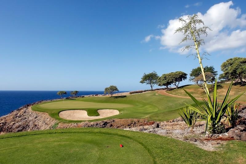 Challenge at Manele Golf Course - 12th Hole - Tee View - Lana'i, Hawaii