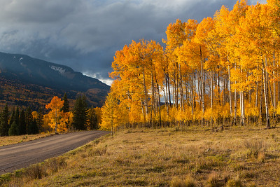 Cinarron Colorado Fall Sunset