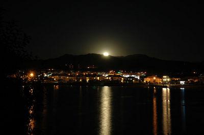 Full Moon setting over Colorado Rockies Flatirons  July 2005