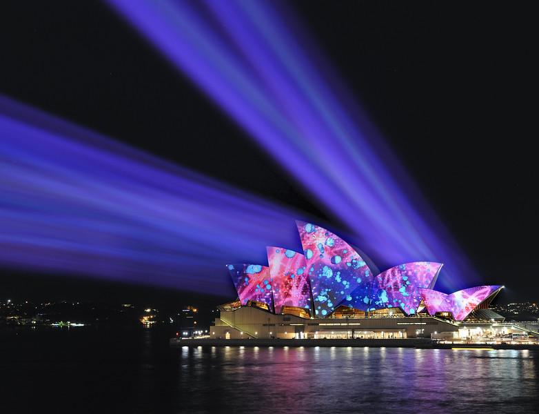 Vivid lightshow. Sydney, NSW, Australia.<br /> 2009.