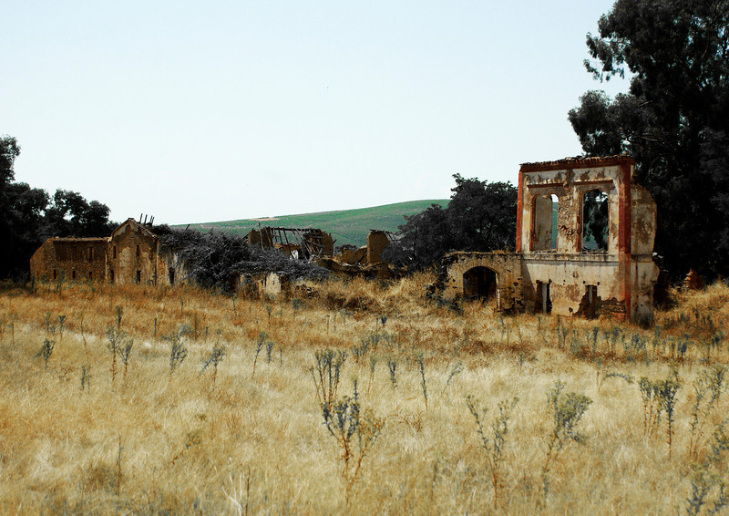 Deserted farm. Guadalupe. Extremadura. Spain<br /> Not happy with the sky in this one, but the ruined buildings are full of colour.