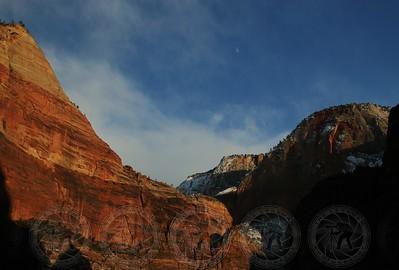 Moonrise at Sunset - Zion NP, Utah