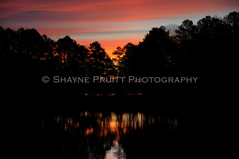 Sunrise at Buford Dam Road, Cumming, Georgia