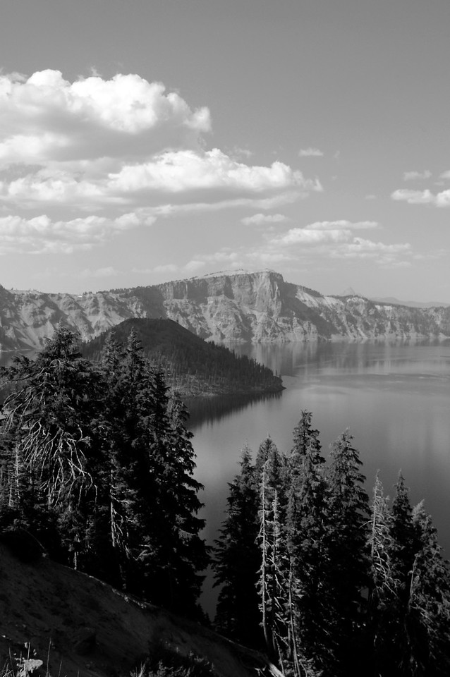 Crater Lake, Oregon B&W