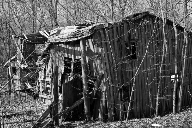 Disused Shed B&W