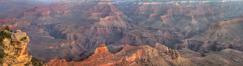 The sun rising over the Grand Canyon from Yaki Point looking west.  The colors at sunrise were breathtaking.