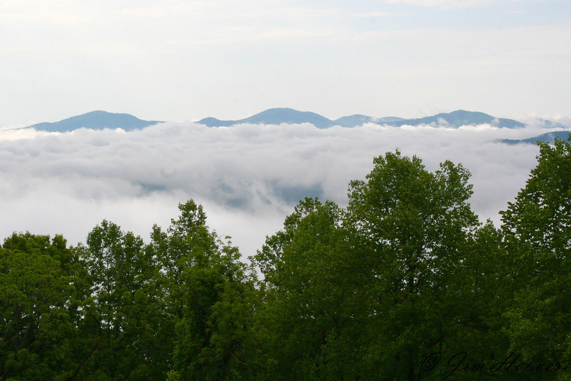 Morning fog in Shenandoah National Park