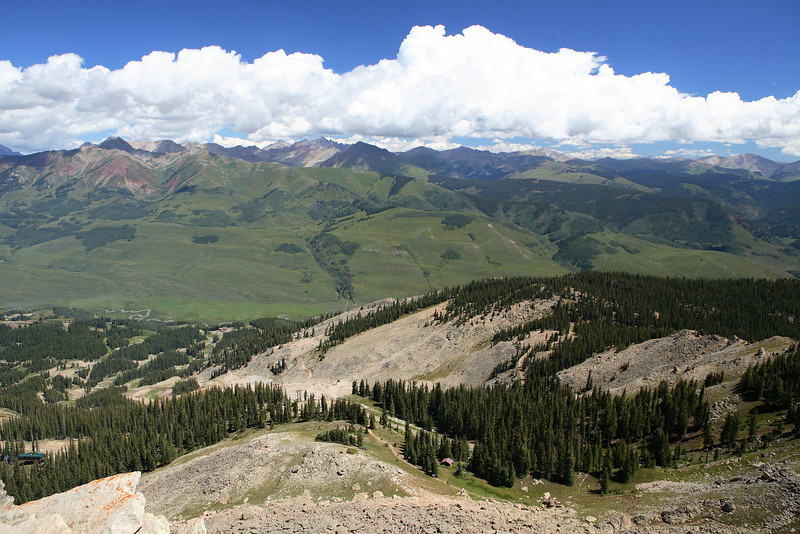 From Peak of Mt Crested Butte