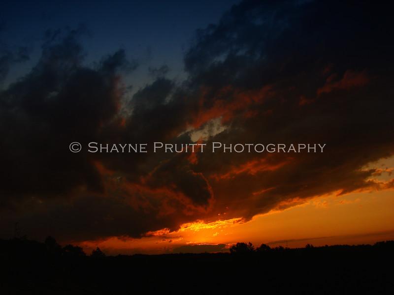 Sunset from Buford Dam Road, Cumming, Georgia
