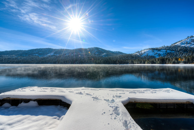 burst of winter | donner lake, california