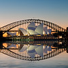 Sydney Opera House. <br /> Composite image with reflection layer.