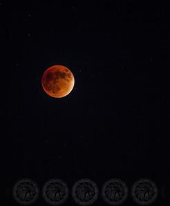 Blood Moon over Alpine, CA Sept 2015