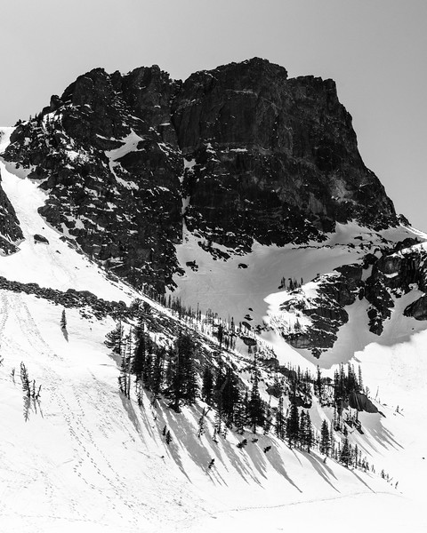 Hallett Peak from Emerald Lake. Rocky Mountain National Park - Colorado, USA