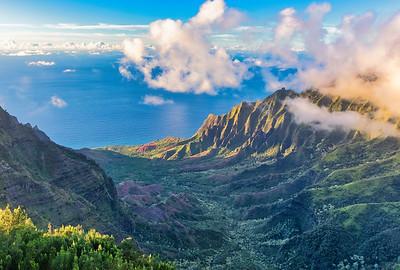Kalalau Valley and Na Pali Cliffs, Kauai, Hawaii