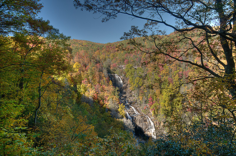 Whitewater Falls in autum.