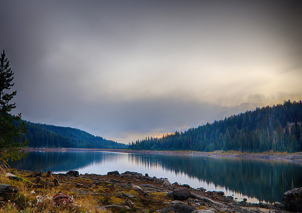 Brundage Reservoir at Dusk