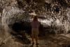Julie Steelman explores lava tube, Kona, Hawaii