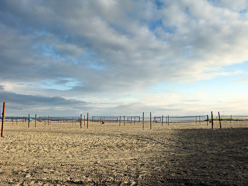 Volley Ball nets at Seaside, Oregon