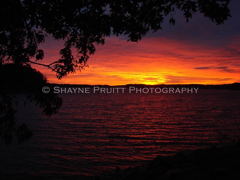 Sunrise at Buford Dam on Lake Sidney Lanier