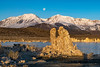 Moon set, Mono Lake and Eastern Sierras.