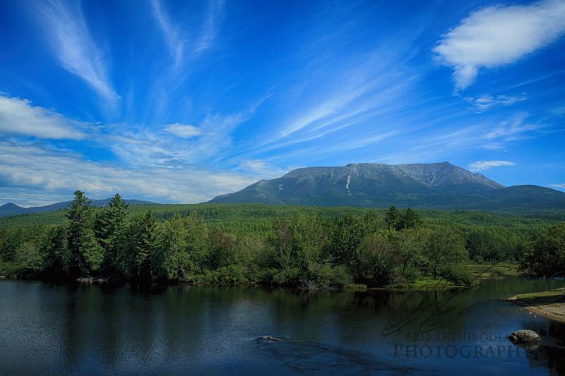 Mount Katahdin along the Penobscot River
