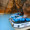 Rafts at Havasu Creek, Grand Canyon