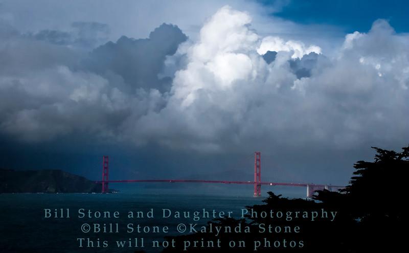 Golden Gate Bridge and Clouds