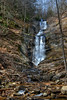 A short hike will bring you to Tom's Creek Falls in McDowell County, NC