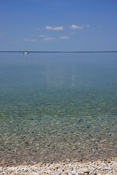 Horseshoe Bay from Mackinac Island, MI<br /> Horseshoe Bay from Mackinac Island, Michigan