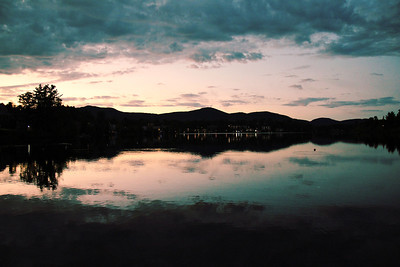 Night fall on Lake Placid, NY