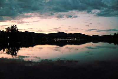 Night fall on Lake Placid, NY