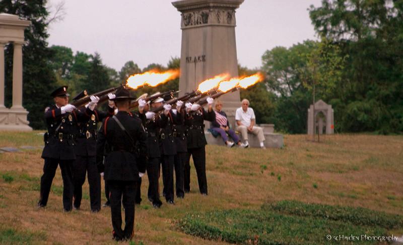 9-11 Memorial service 21 gun salute