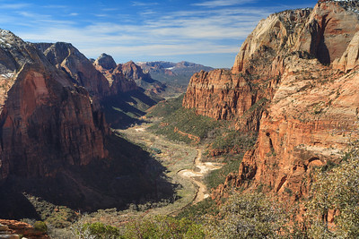 Zion National Park.  A view from Angels Landing, early spring in the mid morning hours.