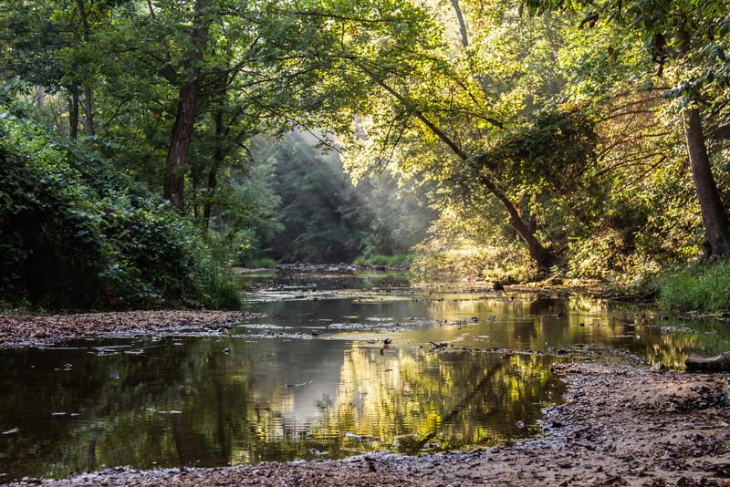 Sandy Creek located at the Sandy Creek Covered Bridge State Historic Site, Jefferson County Missouri.