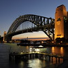 Sydney Harbour Bridge from Kirribilli, Sydney.