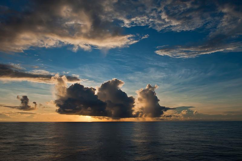 Ocean sunrise. Sun Princess 2009