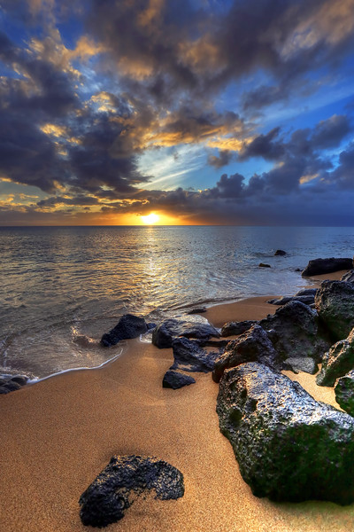 Pohaku Beach Sunset - Maui, Hawaii
