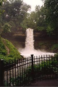 Minnehaha Falls Spring 1992, Minneapolis, Minnesota